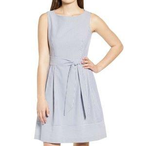 Anne Klein Seersucker Sleeveless dress